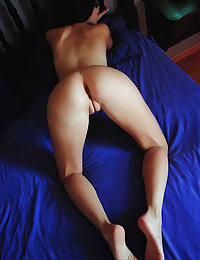 Niemira sensually strips her sexy lingerie as she bares her delectable pussy.